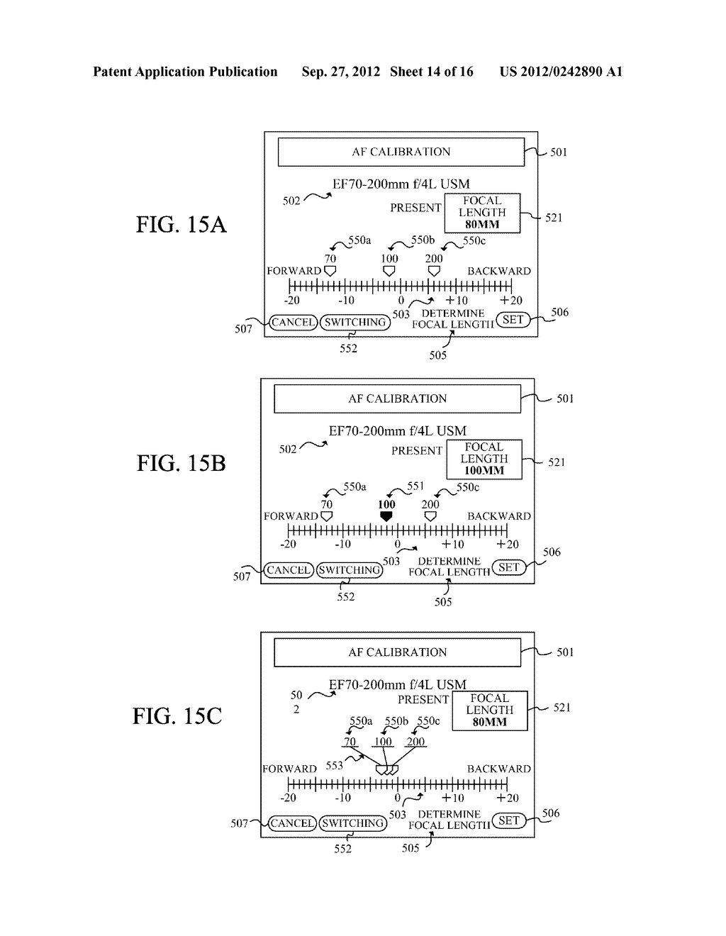 DISPLAY APPARATUS OF IMAGE PICKUP APPARATUS WITH FUNCTION TO CORRECT PHASE     DIFFERENCE AF - diagram, schematic, and image 15