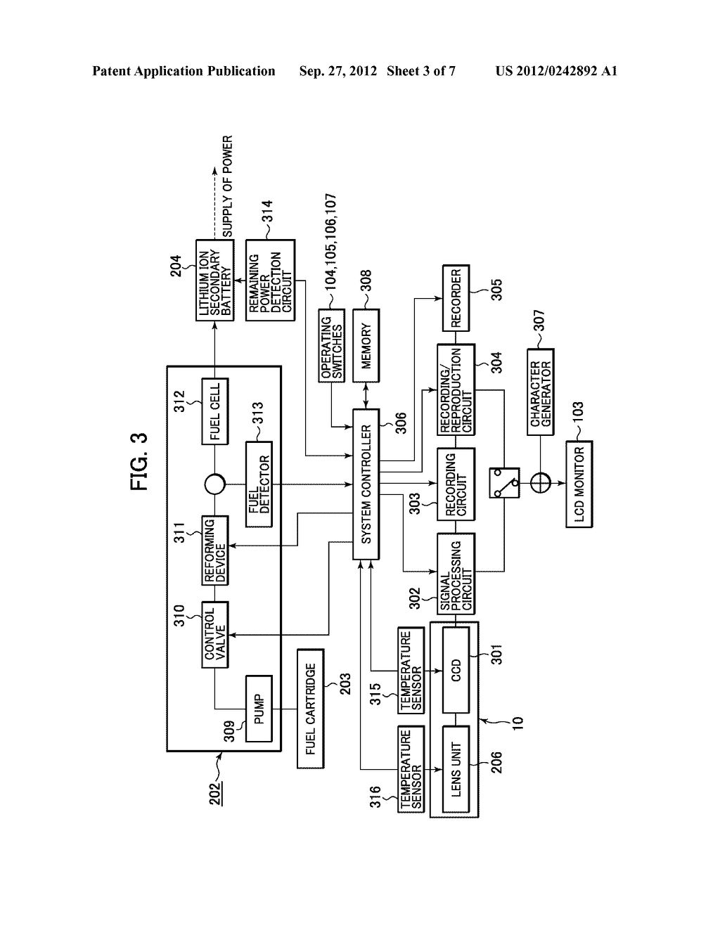 ELECTRONIC APPARATUS AND FUEL CELL CONTROL METHOD FOR ELECTRONIC APPARATUS - diagram, schematic, and image 04