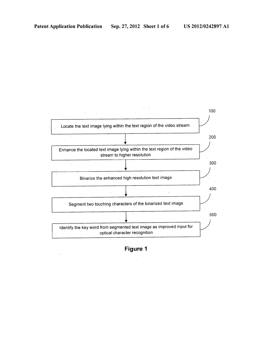 METHOD AND SYSTEM FOR PREPROCESSING THE REGION OF VIDEO CONTAINING TEXT - diagram, schematic, and image 02