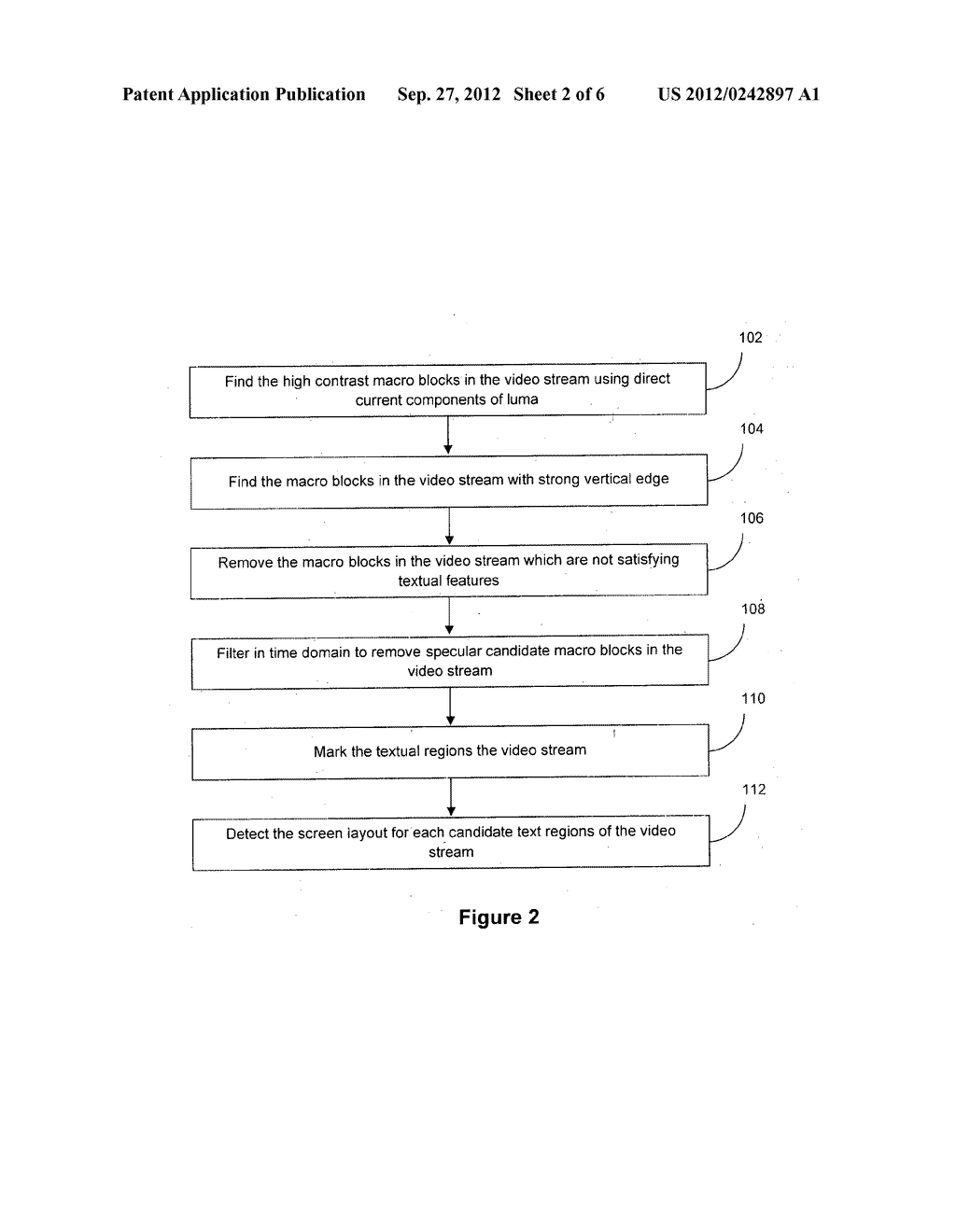 METHOD AND SYSTEM FOR PREPROCESSING THE REGION OF VIDEO CONTAINING TEXT - diagram, schematic, and image 03