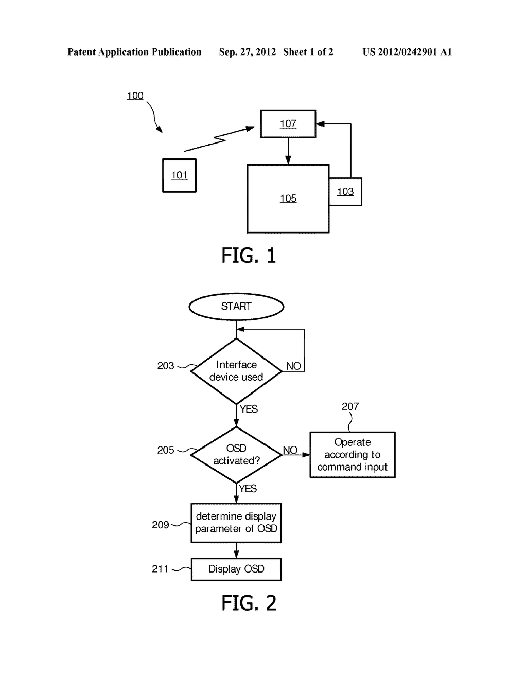 METHOD AND APPARATUS FOR DISPLAYING AN ON-SCREEN DISPLAY - diagram, schematic, and image 02