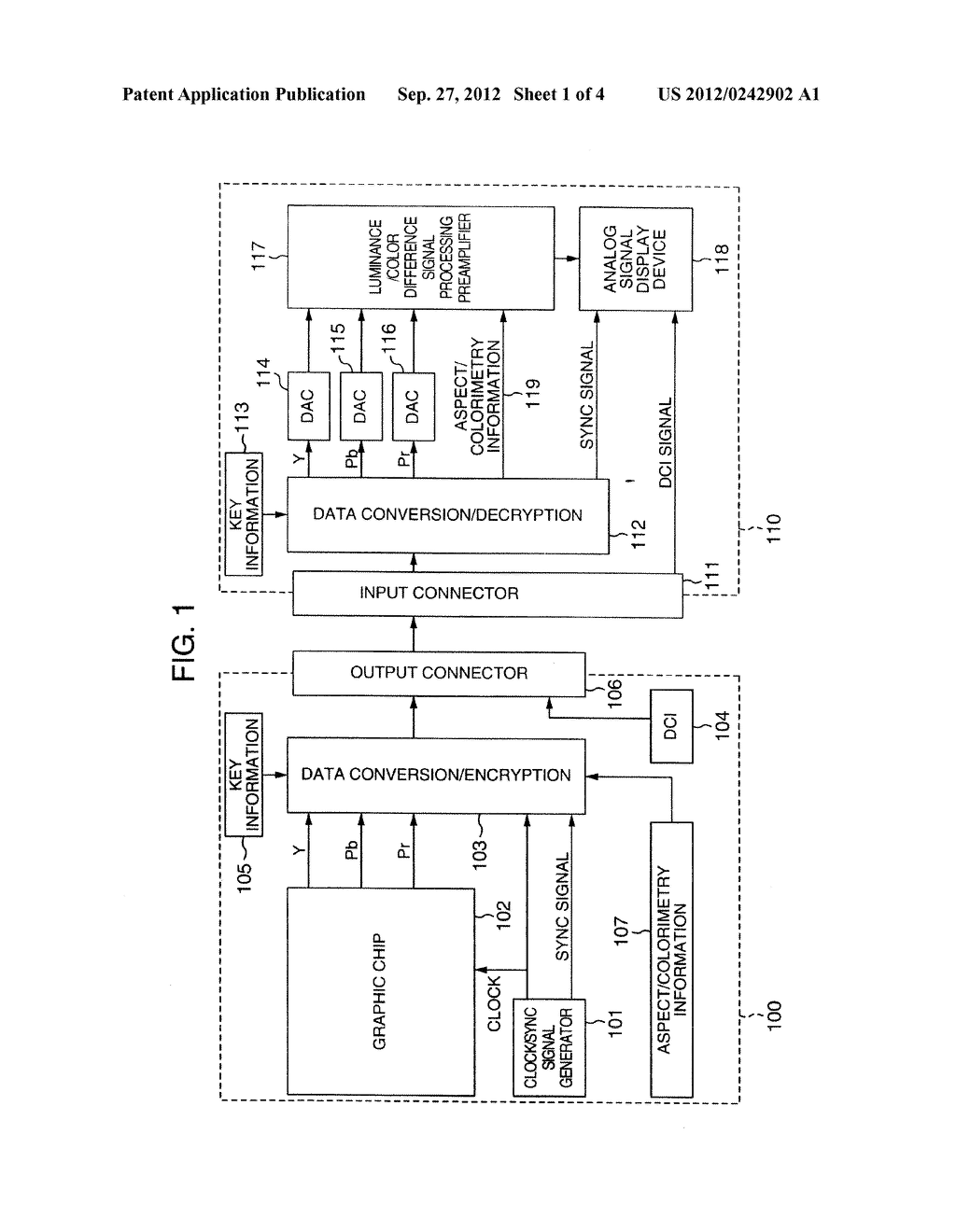 VIDEO SIGNAL TRANSMITTING APPARATUS AND VIDEO SIGNAL RECEIVING APPARATUS - diagram, schematic, and image 02