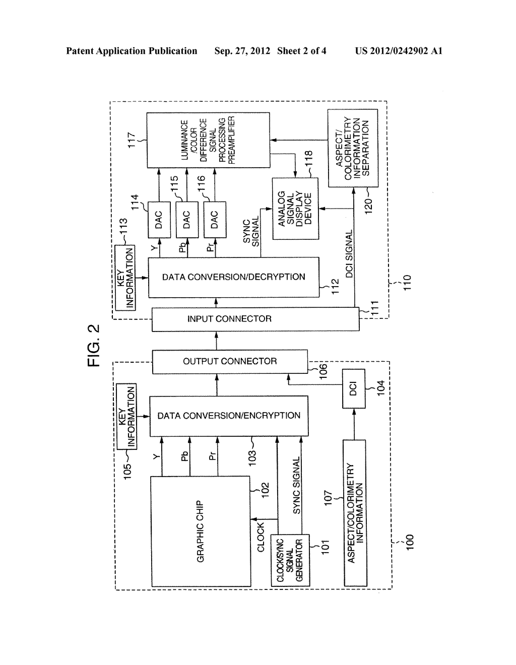 VIDEO SIGNAL TRANSMITTING APPARATUS AND VIDEO SIGNAL RECEIVING APPARATUS - diagram, schematic, and image 03