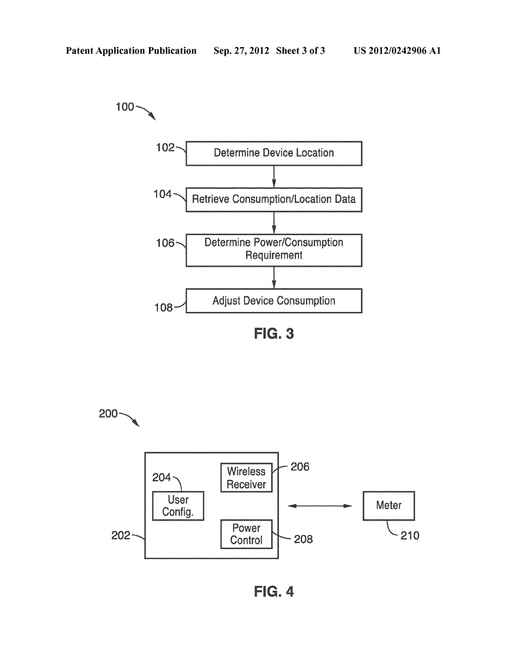 SYSTEM AND METHODS FOR AUTOMATIC POWER SAVING VIA DEVICE LOCATION     IDENTIFICATION - diagram, schematic, and image 04