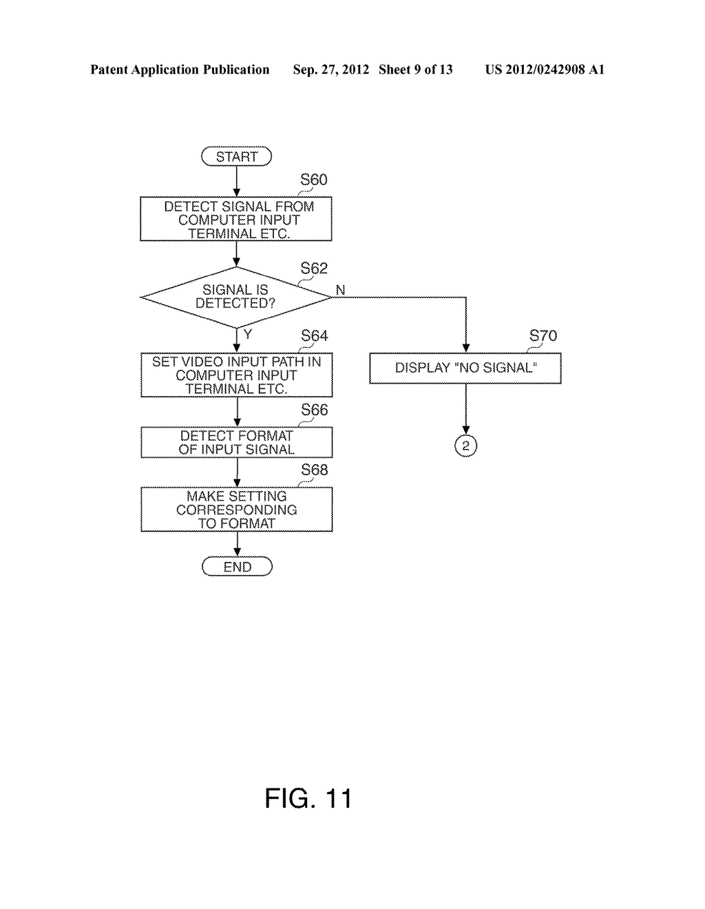 PROJECTOR AND METHOD FOR CONTROLLING THE PROJECTOR - diagram, schematic, and image 10