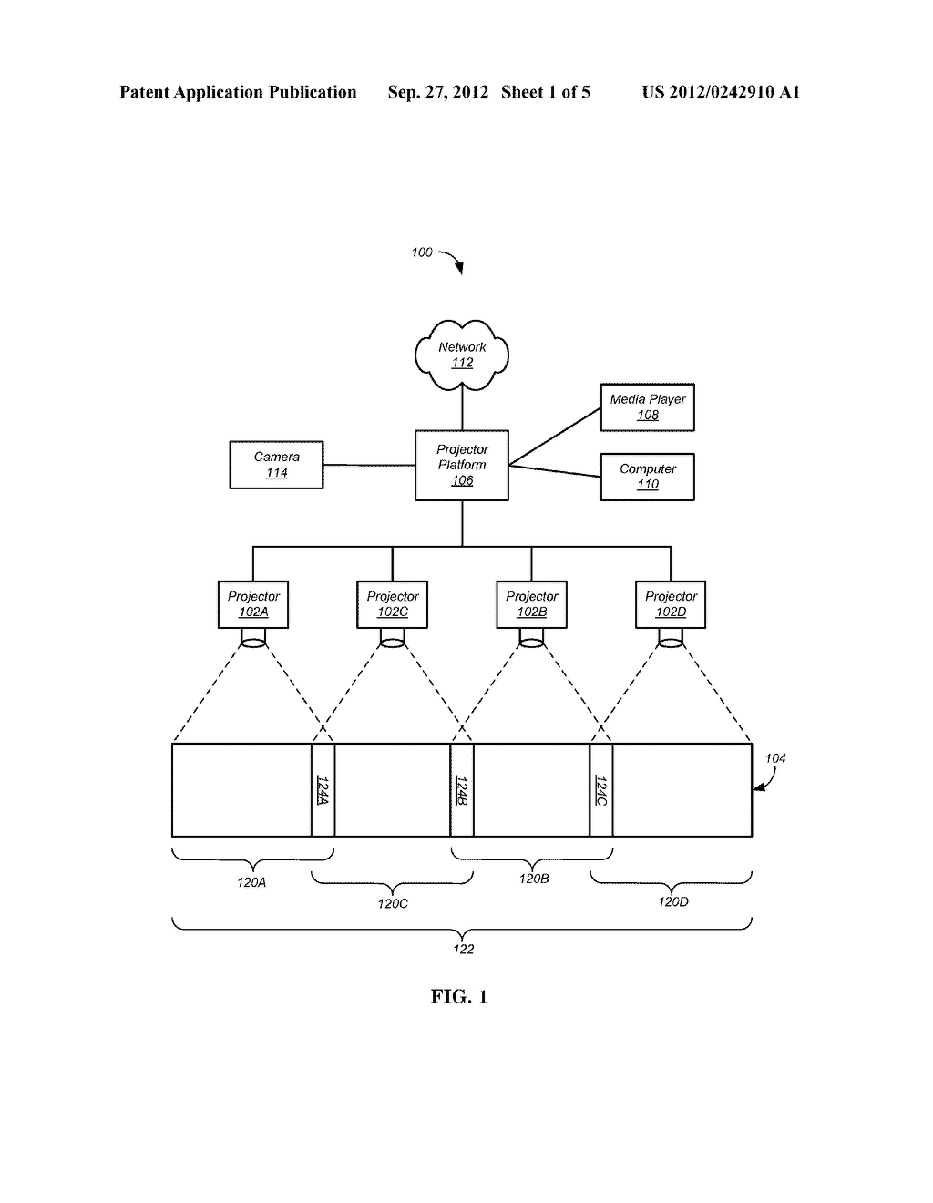 Method For Determining A Video Capture Interval For A Calibration Process     In A Multi-Projector Display System - diagram, schematic, and image 02