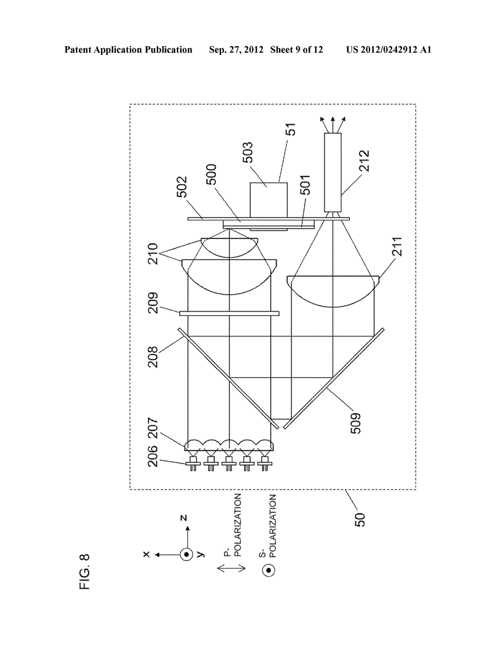 LIGHT SOURCE APPARATUS AND IMAGE DISPLAY APPARATUS USING THE SAME - diagram, schematic, and image 10