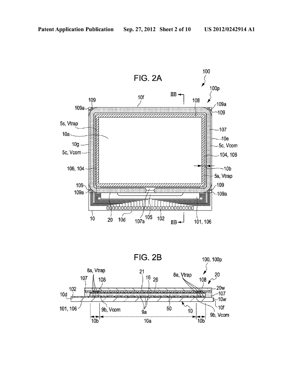 LIQUID CRYSTAL DEVICE AND PROJECTION-TYPE DISPLAY APPARATUS - diagram, schematic, and image 03