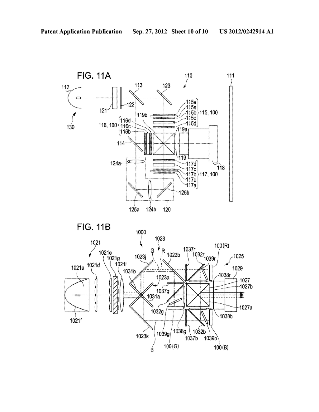 LIQUID CRYSTAL DEVICE AND PROJECTION-TYPE DISPLAY APPARATUS - diagram, schematic, and image 11