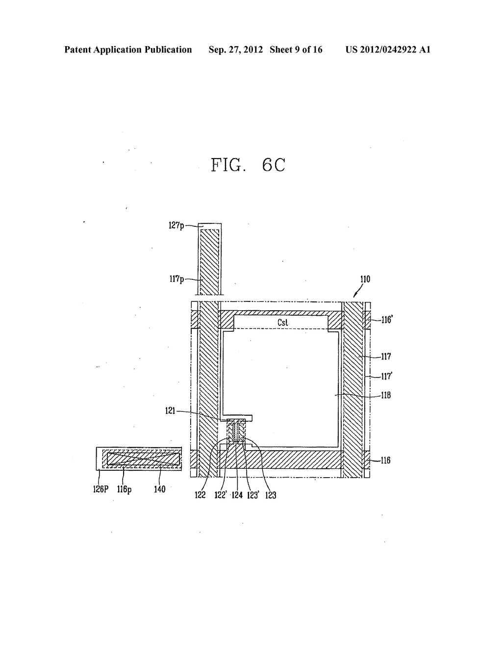 LIQUID CRYSTAL DISPLAY DEVICE AND FABRICATION METHOD THEREOF - diagram, schematic, and image 10