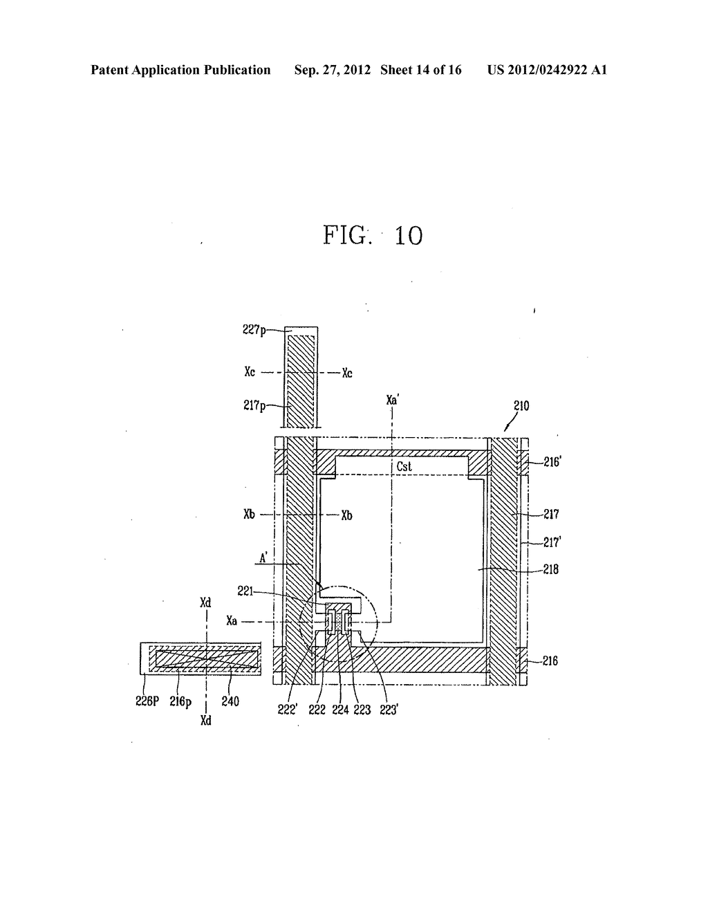 LIQUID CRYSTAL DISPLAY DEVICE AND FABRICATION METHOD THEREOF - diagram, schematic, and image 15