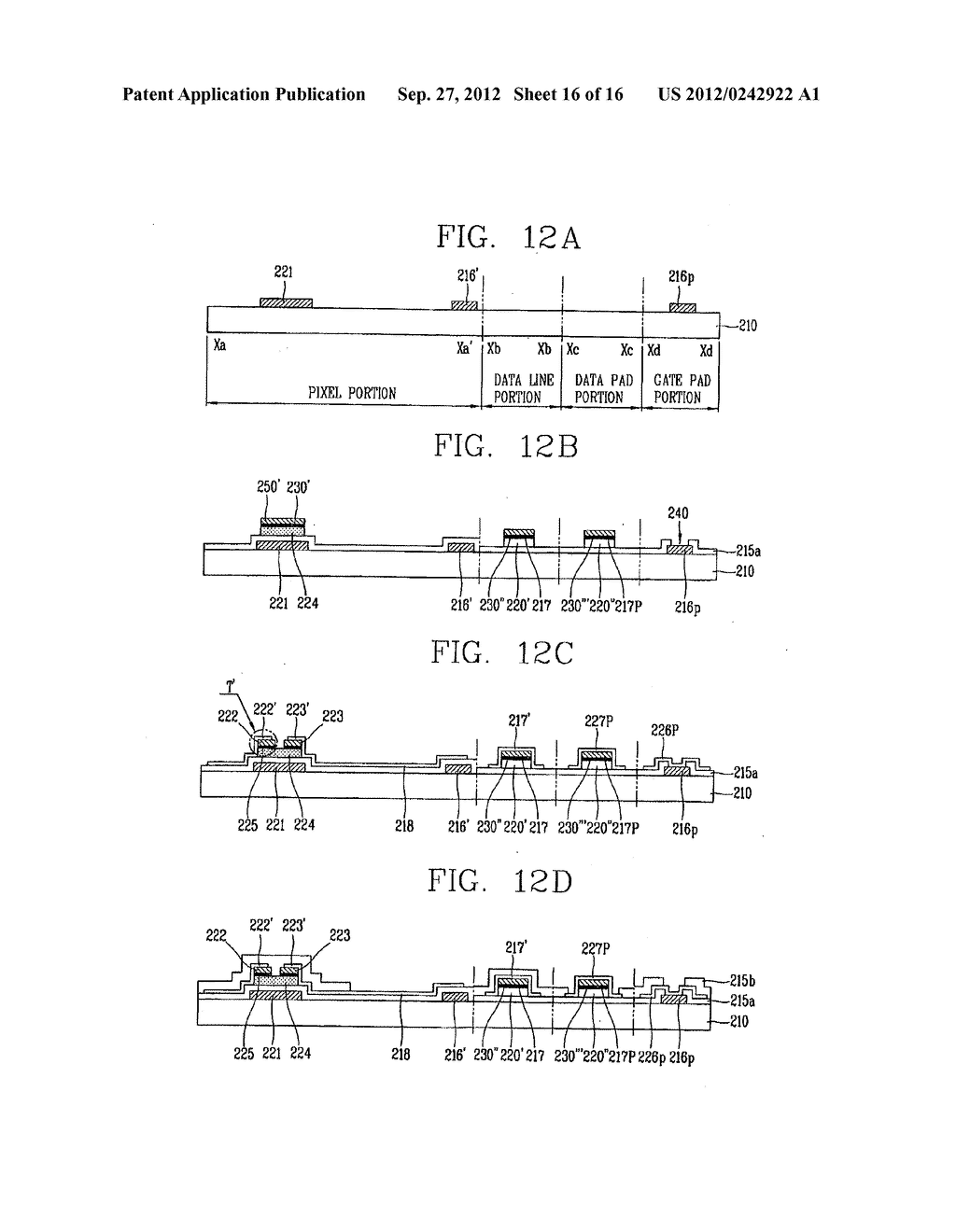 LIQUID CRYSTAL DISPLAY DEVICE AND FABRICATION METHOD THEREOF - diagram, schematic, and image 17