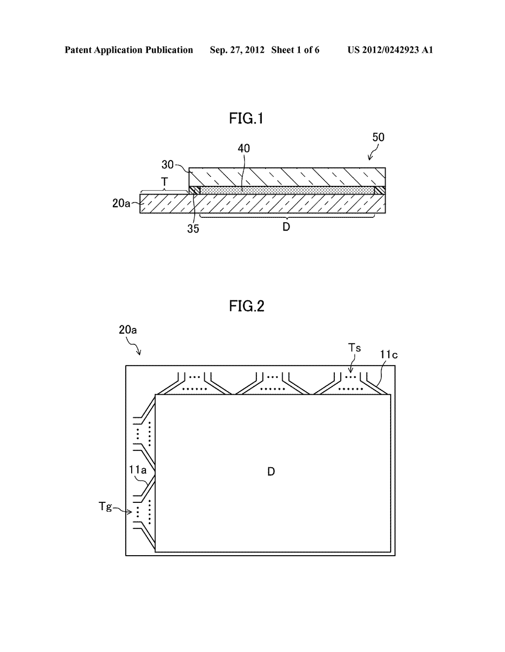 THIN FILM TRANSISTOR SUBSTRATE, METHOD FOR MANUFACTURING THE SAME, AND     DISPLAY DEVICE - diagram, schematic, and image 02