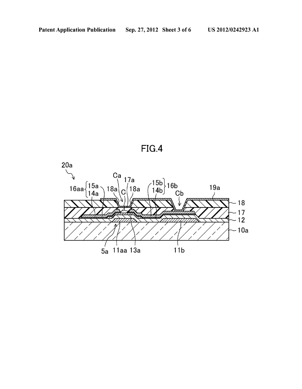THIN FILM TRANSISTOR SUBSTRATE, METHOD FOR MANUFACTURING THE SAME, AND     DISPLAY DEVICE - diagram, schematic, and image 04