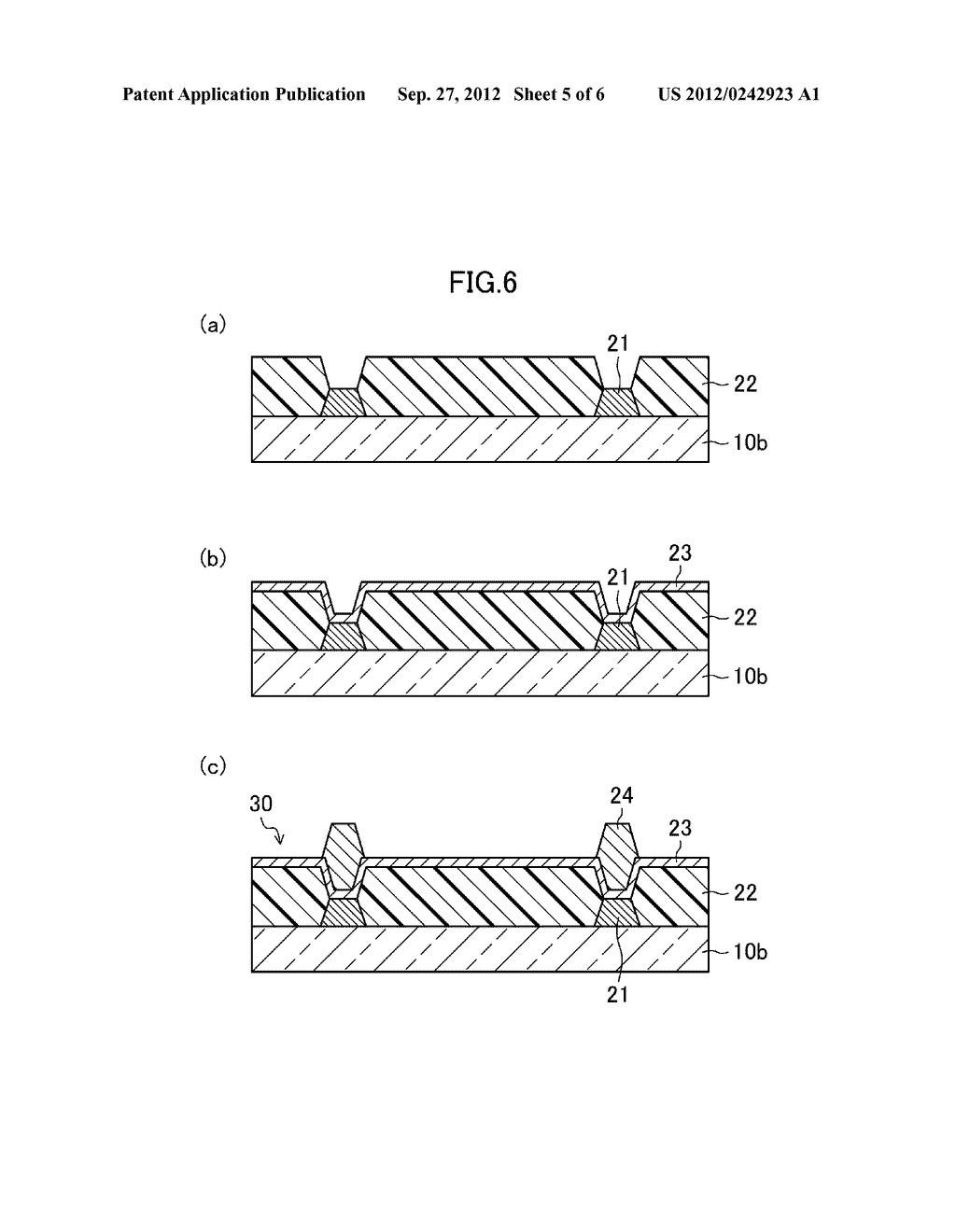 THIN FILM TRANSISTOR SUBSTRATE, METHOD FOR MANUFACTURING THE SAME, AND     DISPLAY DEVICE - diagram, schematic, and image 06