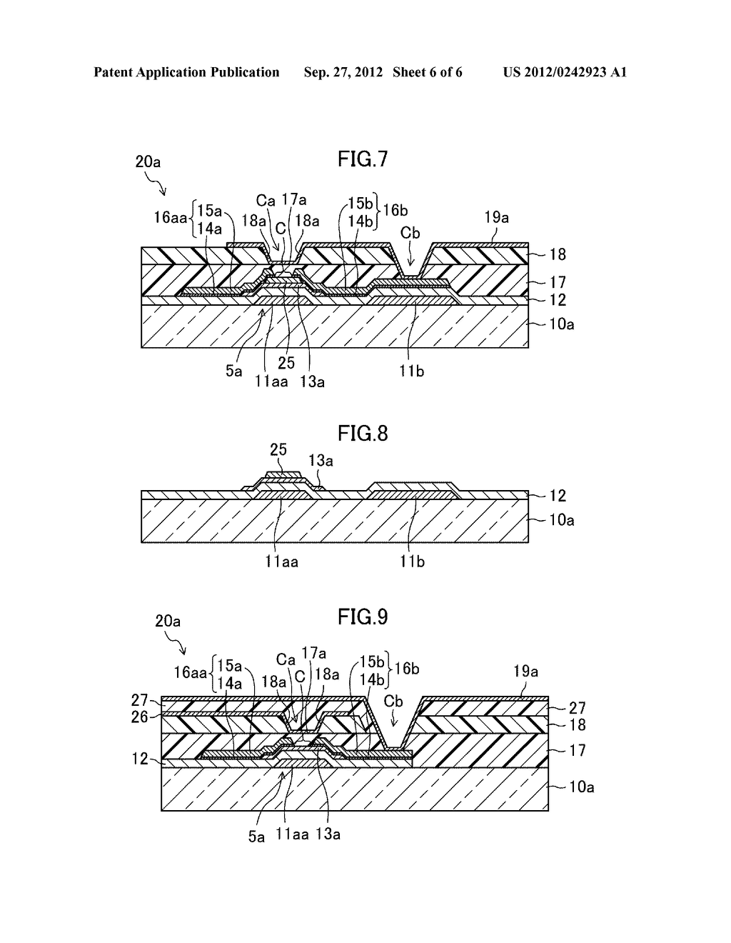 THIN FILM TRANSISTOR SUBSTRATE, METHOD FOR MANUFACTURING THE SAME, AND     DISPLAY DEVICE - diagram, schematic, and image 07