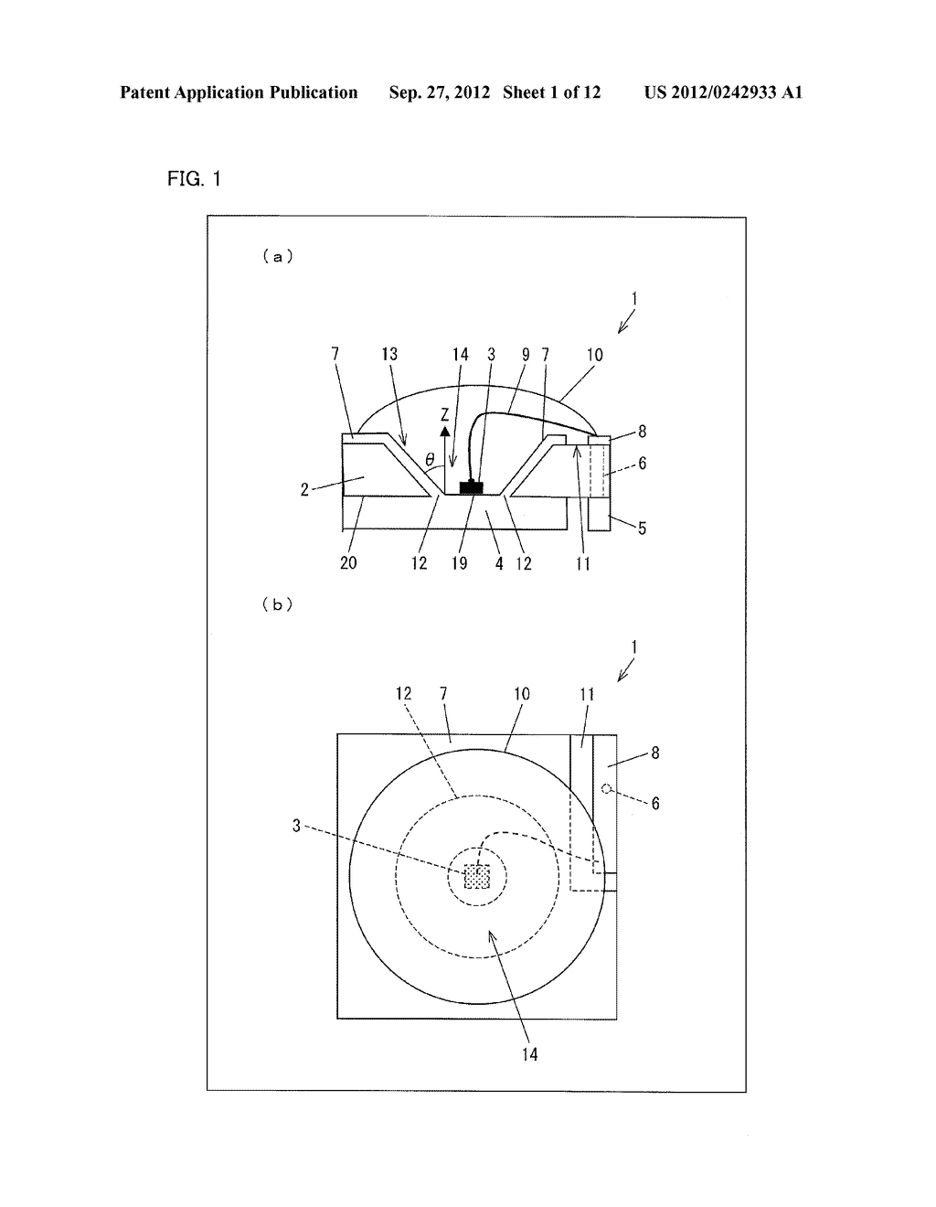 LIGHT EMITTING DIODE ELEMENT, LIGHT SOURCE DEVICE, SURFACE LIGHT SOURCE     ILLUMINATION DEVICE, AND LIQUID CRYSTAL DISPLAY DEVICE - diagram, schematic, and image 02