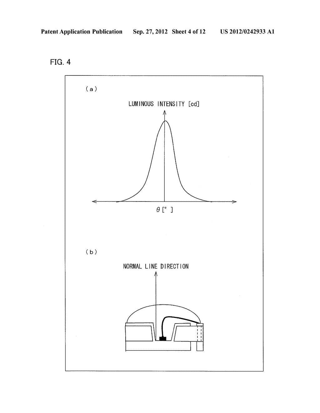 LIGHT EMITTING DIODE ELEMENT, LIGHT SOURCE DEVICE, SURFACE LIGHT SOURCE     ILLUMINATION DEVICE, AND LIQUID CRYSTAL DISPLAY DEVICE - diagram, schematic, and image 05