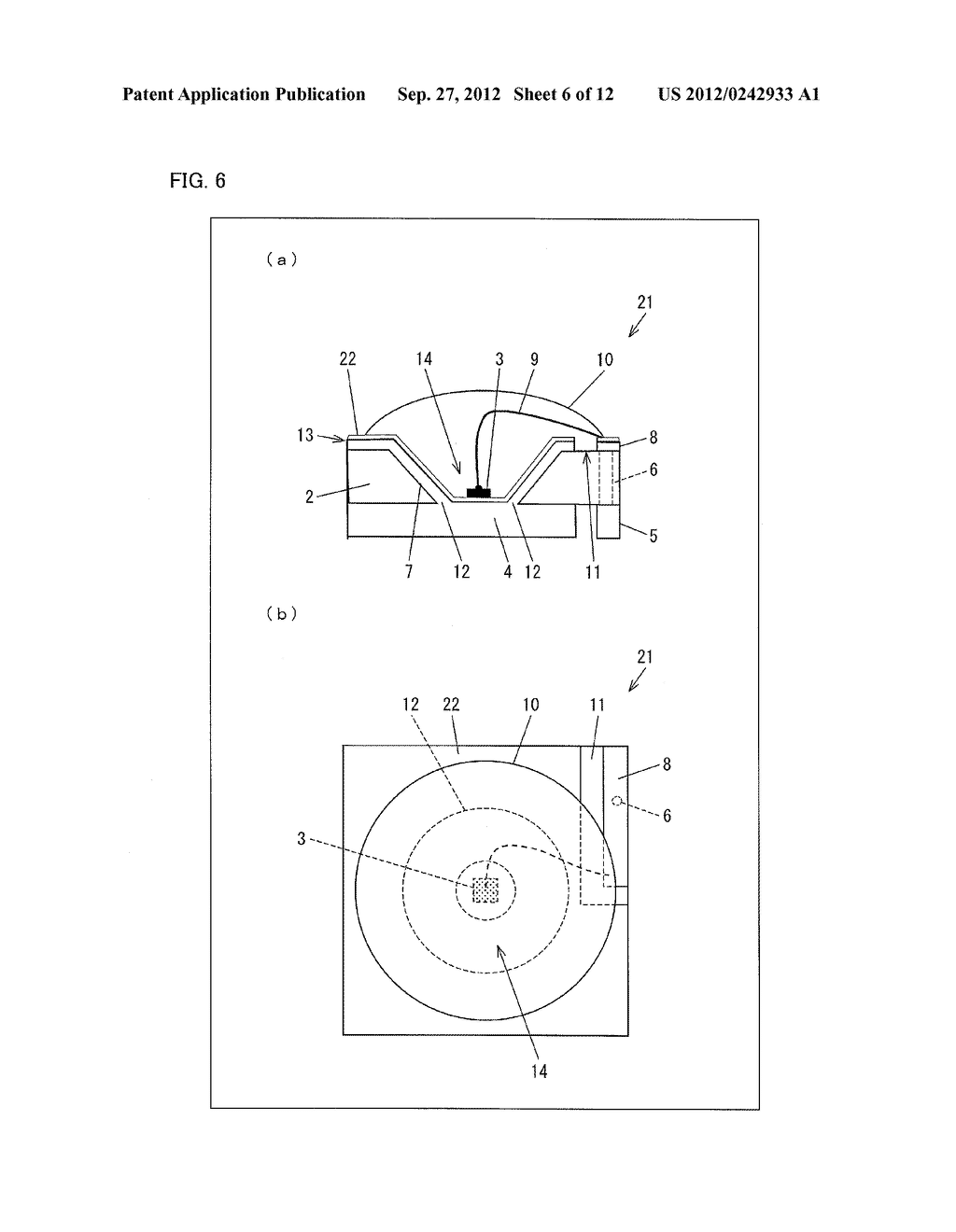 LIGHT EMITTING DIODE ELEMENT, LIGHT SOURCE DEVICE, SURFACE LIGHT SOURCE     ILLUMINATION DEVICE, AND LIQUID CRYSTAL DISPLAY DEVICE - diagram, schematic, and image 07