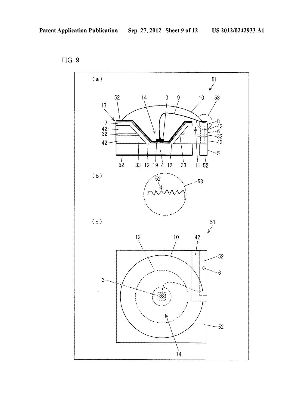 LIGHT EMITTING DIODE ELEMENT, LIGHT SOURCE DEVICE, SURFACE LIGHT SOURCE     ILLUMINATION DEVICE, AND LIQUID CRYSTAL DISPLAY DEVICE - diagram, schematic, and image 10