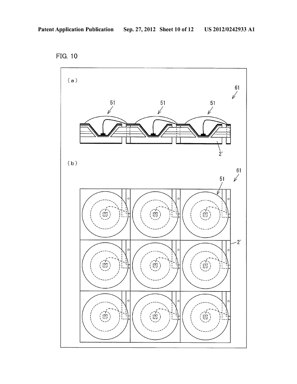 LIGHT EMITTING DIODE ELEMENT, LIGHT SOURCE DEVICE, SURFACE LIGHT SOURCE     ILLUMINATION DEVICE, AND LIQUID CRYSTAL DISPLAY DEVICE - diagram, schematic, and image 11
