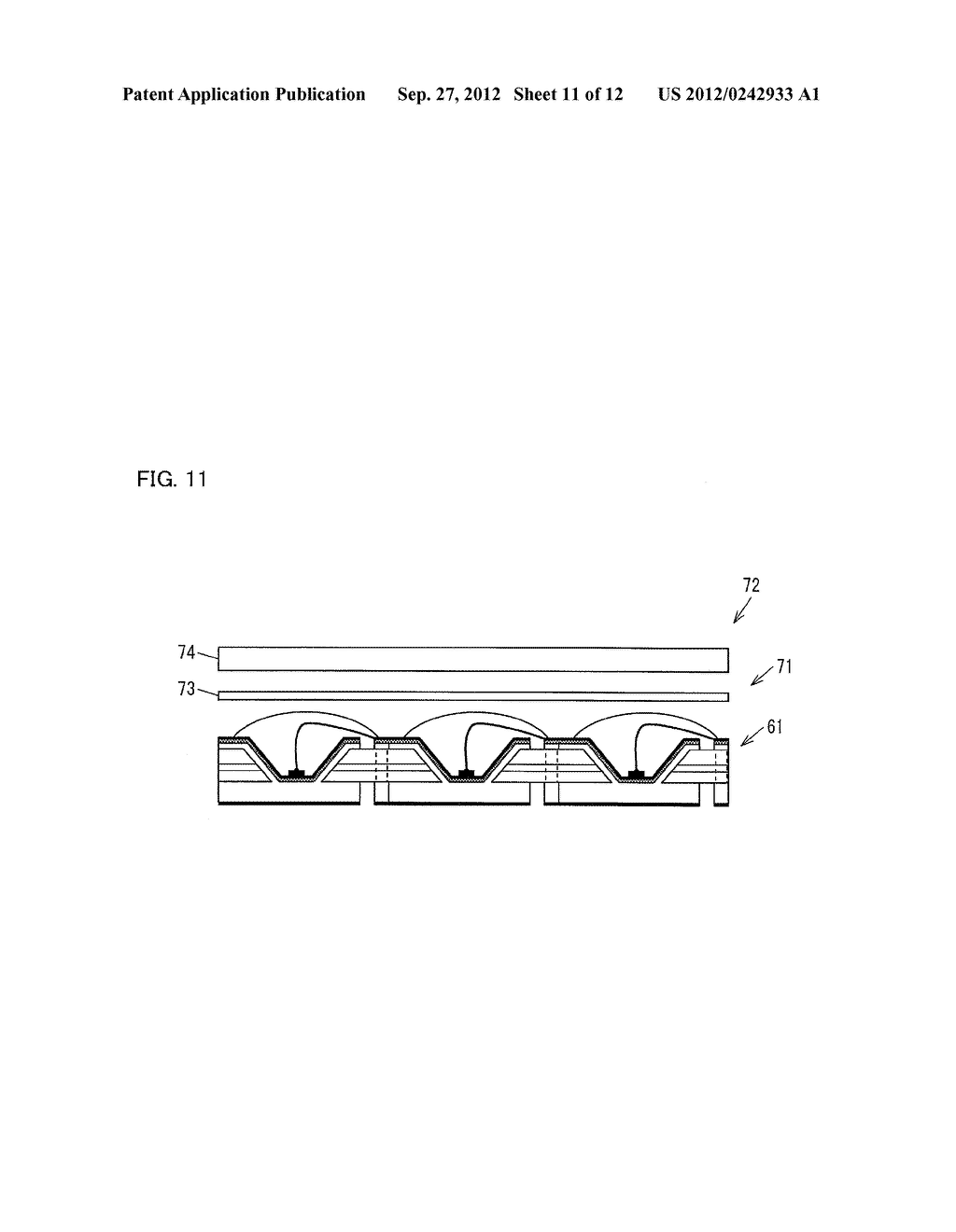 LIGHT EMITTING DIODE ELEMENT, LIGHT SOURCE DEVICE, SURFACE LIGHT SOURCE     ILLUMINATION DEVICE, AND LIQUID CRYSTAL DISPLAY DEVICE - diagram, schematic, and image 12
