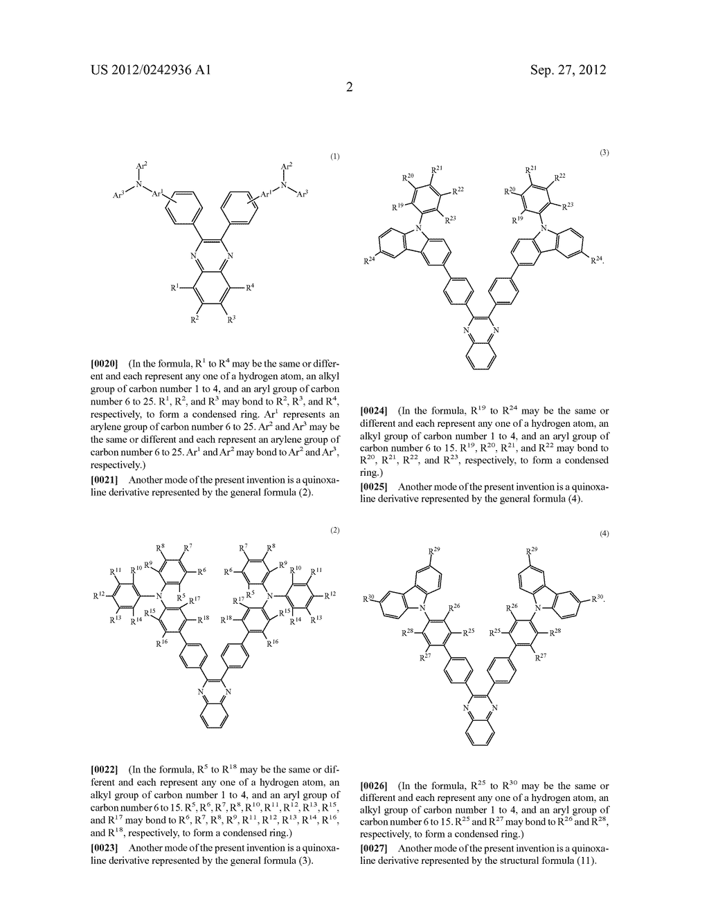 Quinoxaline Derivative, and Light Emitting Element, Light Emitting Device,     and Electronic Device Using the Quinoxaline Derivative - diagram, schematic, and image 38