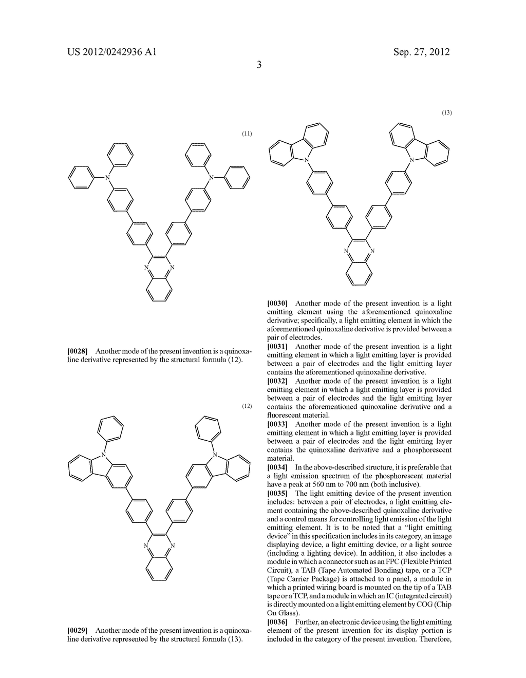Quinoxaline Derivative, and Light Emitting Element, Light Emitting Device,     and Electronic Device Using the Quinoxaline Derivative - diagram, schematic, and image 39