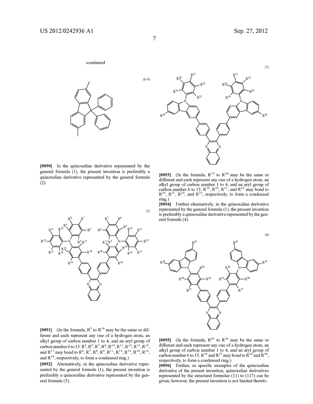 Quinoxaline Derivative, and Light Emitting Element, Light Emitting Device,     and Electronic Device Using the Quinoxaline Derivative - diagram, schematic, and image 43