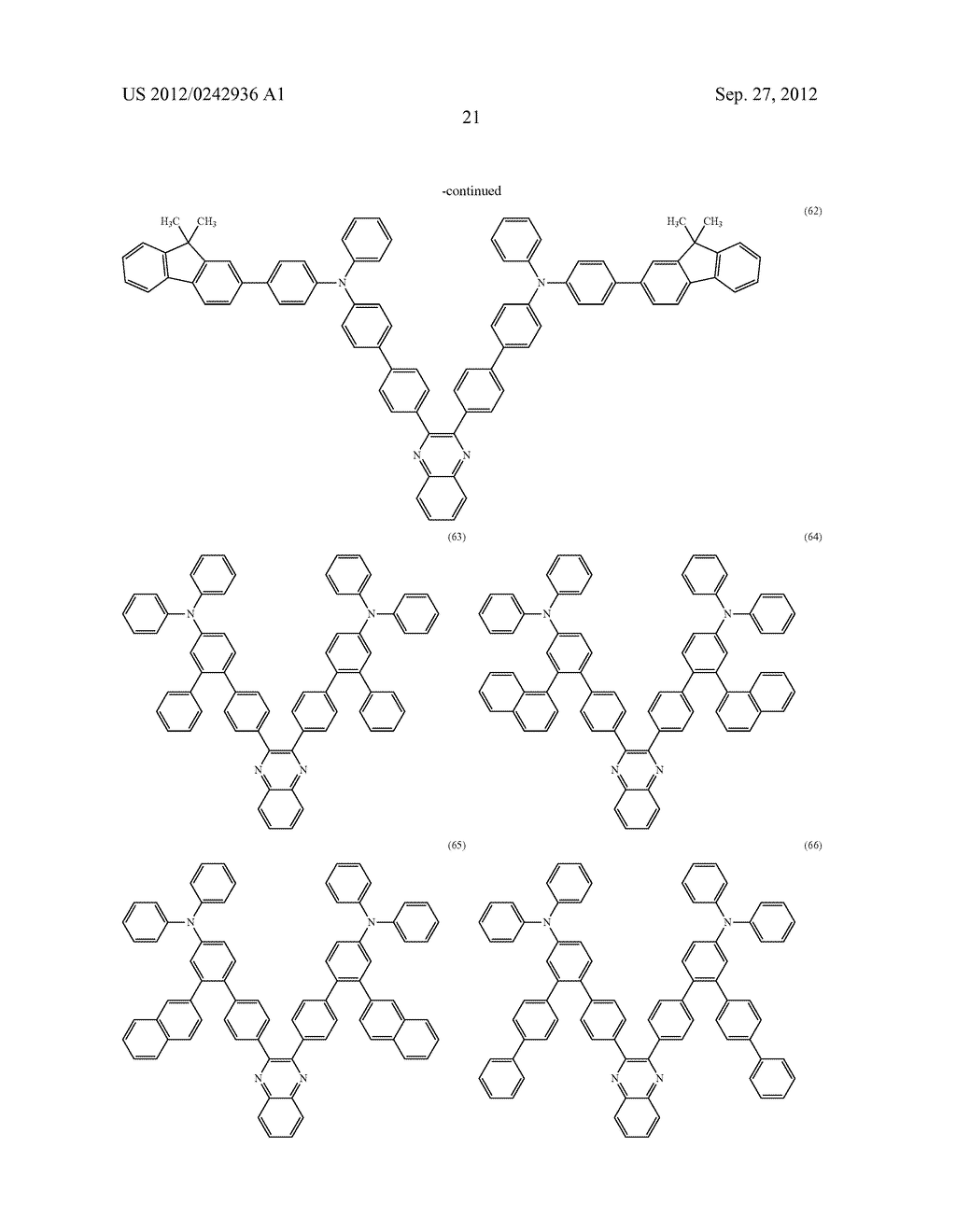 Quinoxaline Derivative, and Light Emitting Element, Light Emitting Device,     and Electronic Device Using the Quinoxaline Derivative - diagram, schematic, and image 57