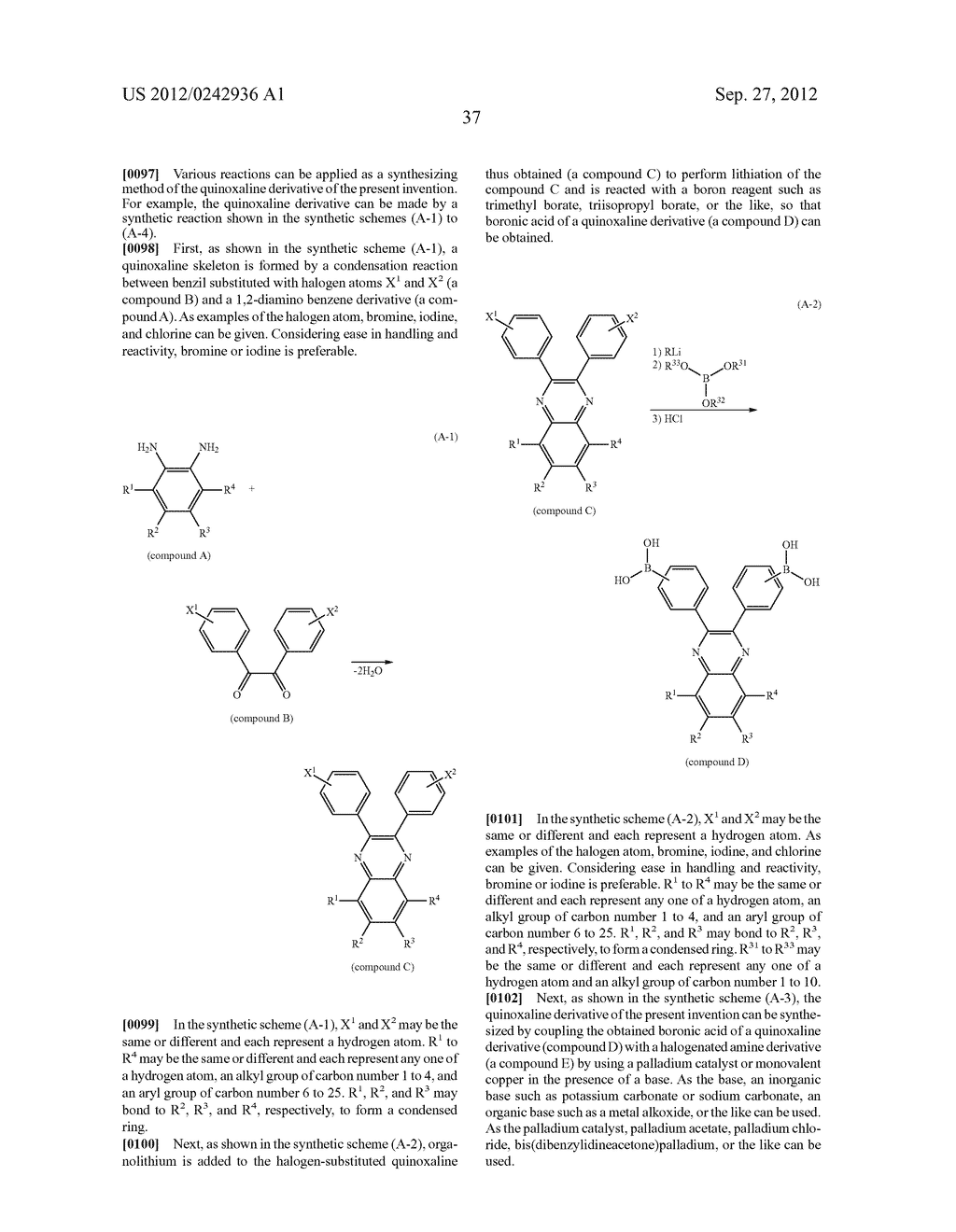 Quinoxaline Derivative, and Light Emitting Element, Light Emitting Device,     and Electronic Device Using the Quinoxaline Derivative - diagram, schematic, and image 73