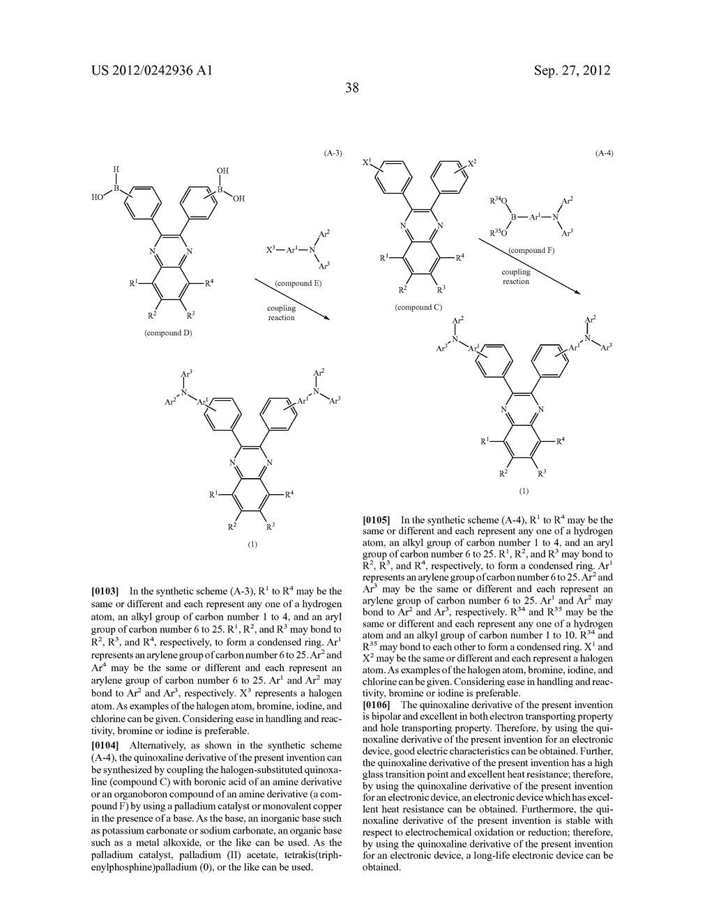 Quinoxaline Derivative, and Light Emitting Element, Light Emitting Device,     and Electronic Device Using the Quinoxaline Derivative - diagram, schematic, and image 74