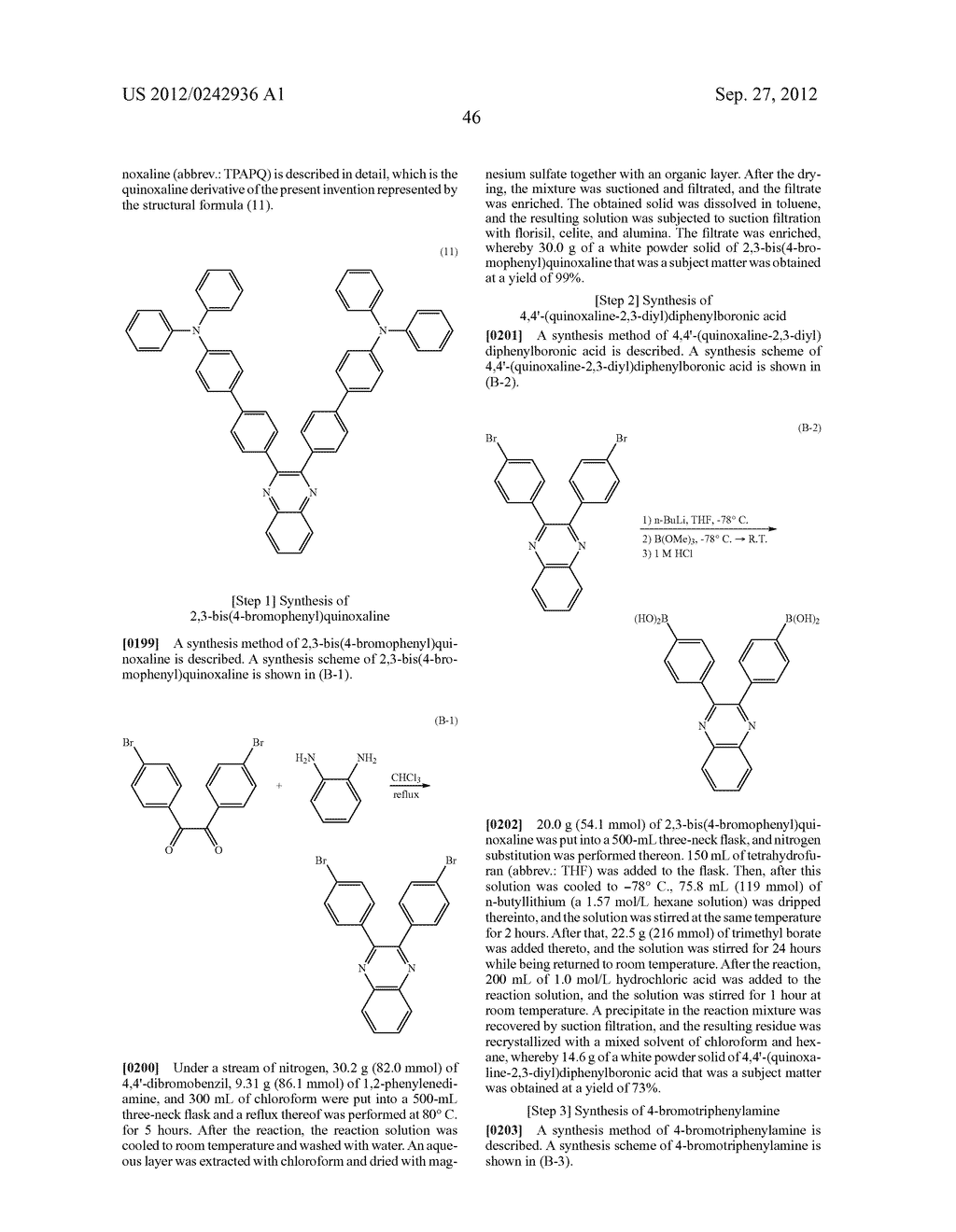 Quinoxaline Derivative, and Light Emitting Element, Light Emitting Device,     and Electronic Device Using the Quinoxaline Derivative - diagram, schematic, and image 82