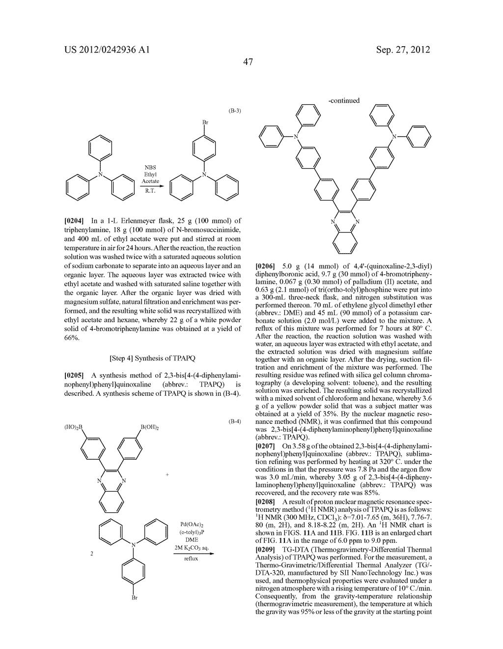 Quinoxaline Derivative, and Light Emitting Element, Light Emitting Device,     and Electronic Device Using the Quinoxaline Derivative - diagram, schematic, and image 83