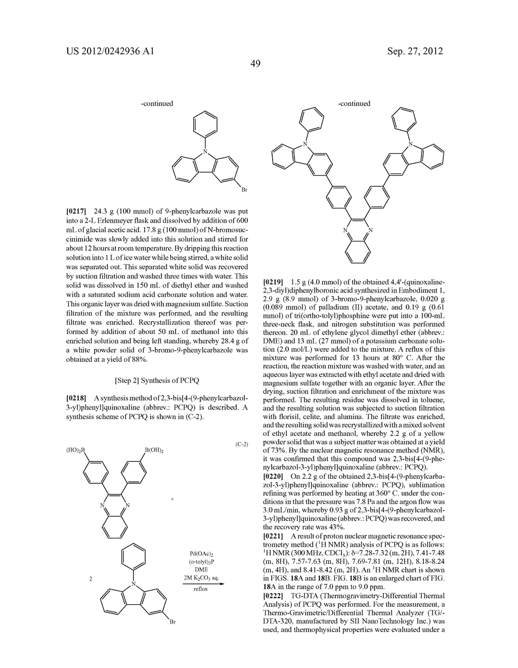 Quinoxaline Derivative, and Light Emitting Element, Light Emitting Device,     and Electronic Device Using the Quinoxaline Derivative - diagram, schematic, and image 85