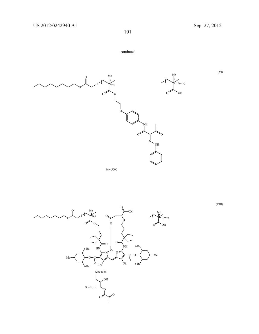 RADIATION-SENSITIVE COLORED COMPOSITION, COLOR FILTER, METHOD FOR     PRODUCING A COLOR PATTERN, METHOD FOR PRODUCING COLOR FILTER, SOLID-STATE     IMAGING DEVICE, AND LIQUID CRYSTAL DISPLAY APPARATUS - diagram, schematic, and image 102