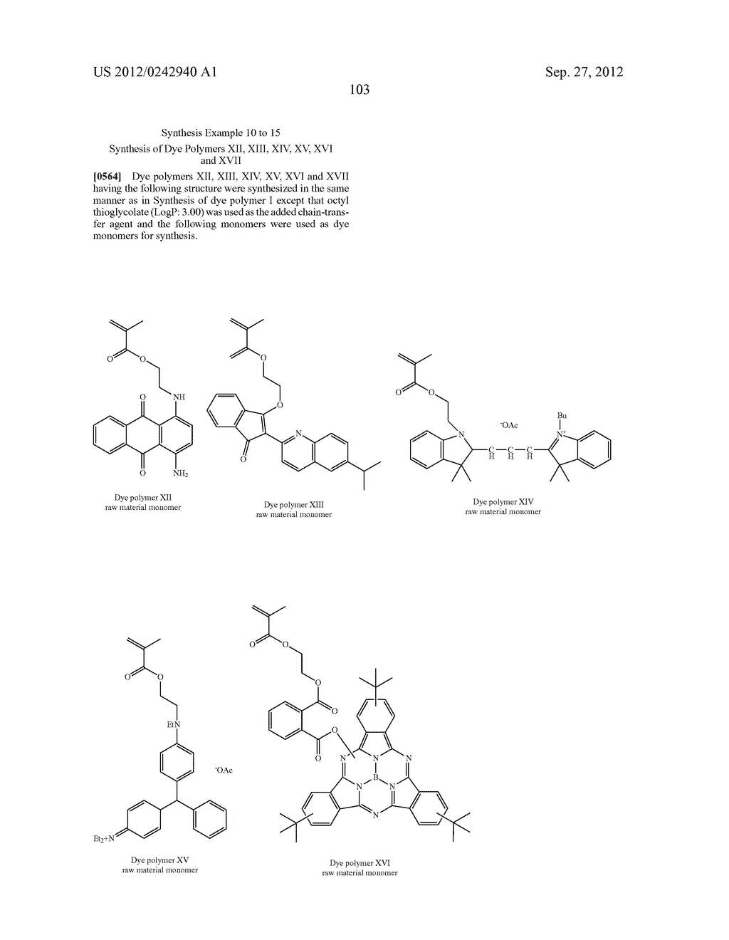 RADIATION-SENSITIVE COLORED COMPOSITION, COLOR FILTER, METHOD FOR     PRODUCING A COLOR PATTERN, METHOD FOR PRODUCING COLOR FILTER, SOLID-STATE     IMAGING DEVICE, AND LIQUID CRYSTAL DISPLAY APPARATUS - diagram, schematic, and image 104