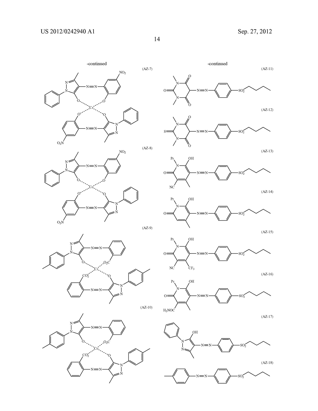 RADIATION-SENSITIVE COLORED COMPOSITION, COLOR FILTER, METHOD FOR     PRODUCING A COLOR PATTERN, METHOD FOR PRODUCING COLOR FILTER, SOLID-STATE     IMAGING DEVICE, AND LIQUID CRYSTAL DISPLAY APPARATUS - diagram, schematic, and image 15