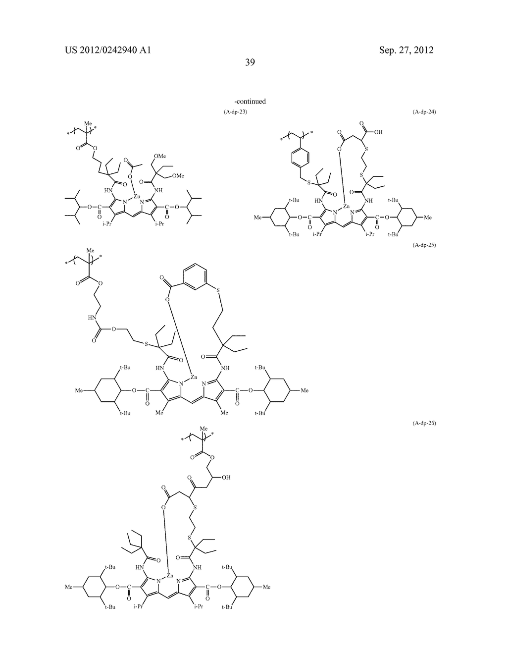 RADIATION-SENSITIVE COLORED COMPOSITION, COLOR FILTER, METHOD FOR     PRODUCING A COLOR PATTERN, METHOD FOR PRODUCING COLOR FILTER, SOLID-STATE     IMAGING DEVICE, AND LIQUID CRYSTAL DISPLAY APPARATUS - diagram, schematic, and image 40