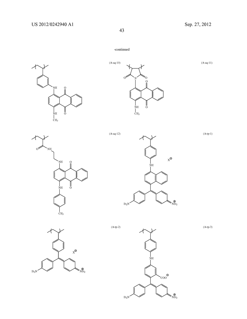 RADIATION-SENSITIVE COLORED COMPOSITION, COLOR FILTER, METHOD FOR     PRODUCING A COLOR PATTERN, METHOD FOR PRODUCING COLOR FILTER, SOLID-STATE     IMAGING DEVICE, AND LIQUID CRYSTAL DISPLAY APPARATUS - diagram, schematic, and image 44
