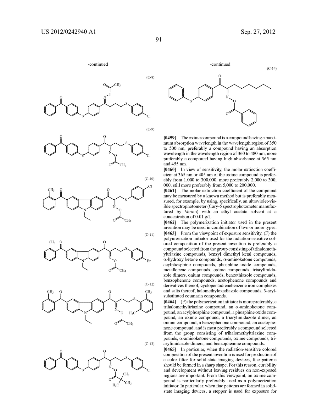 RADIATION-SENSITIVE COLORED COMPOSITION, COLOR FILTER, METHOD FOR     PRODUCING A COLOR PATTERN, METHOD FOR PRODUCING COLOR FILTER, SOLID-STATE     IMAGING DEVICE, AND LIQUID CRYSTAL DISPLAY APPARATUS - diagram, schematic, and image 92
