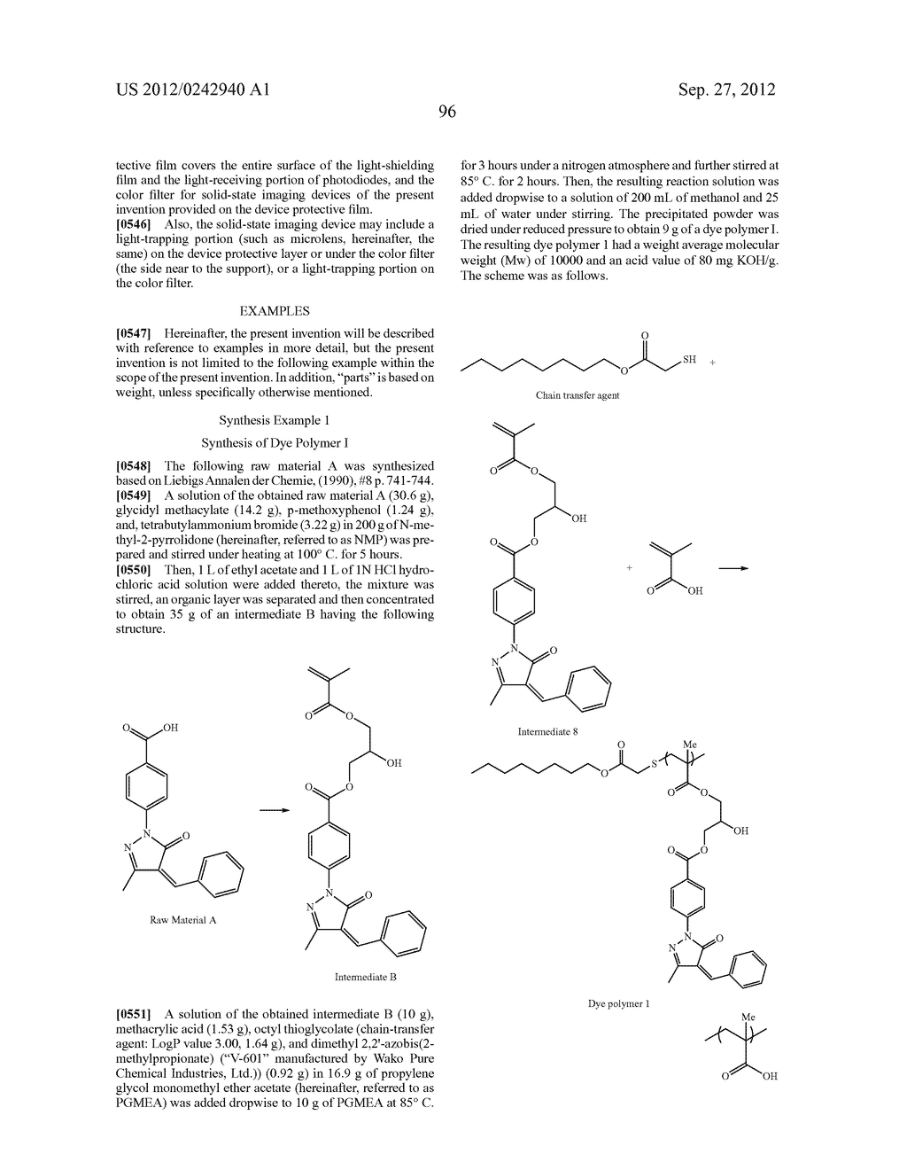 RADIATION-SENSITIVE COLORED COMPOSITION, COLOR FILTER, METHOD FOR     PRODUCING A COLOR PATTERN, METHOD FOR PRODUCING COLOR FILTER, SOLID-STATE     IMAGING DEVICE, AND LIQUID CRYSTAL DISPLAY APPARATUS - diagram, schematic, and image 97