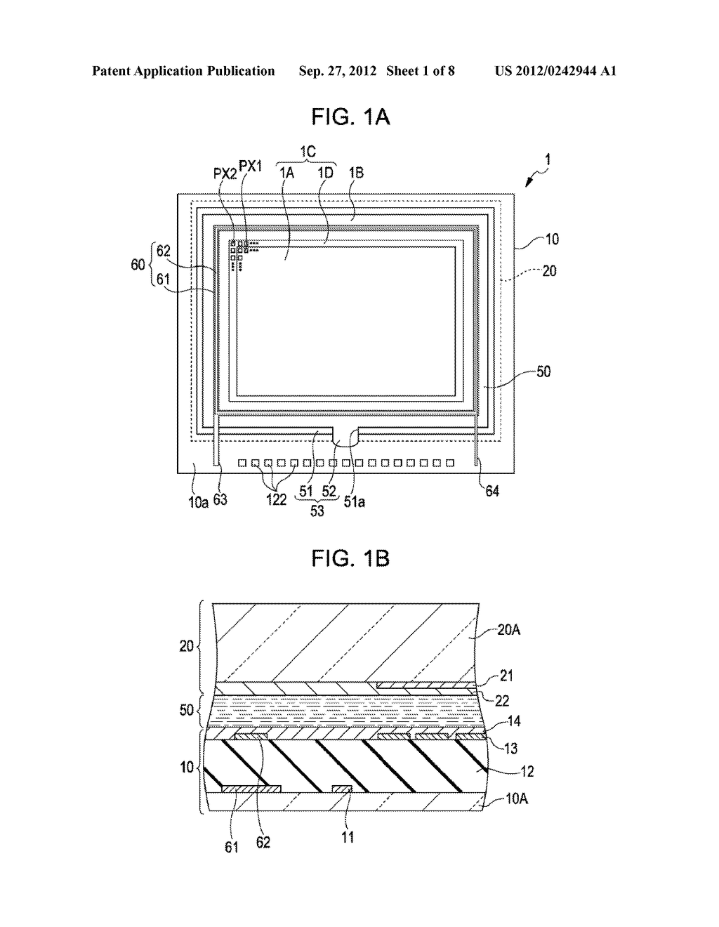LIQUID CRYSTAL DEVICE AND ELECTRONIC APPARATUS - diagram, schematic, and image 02