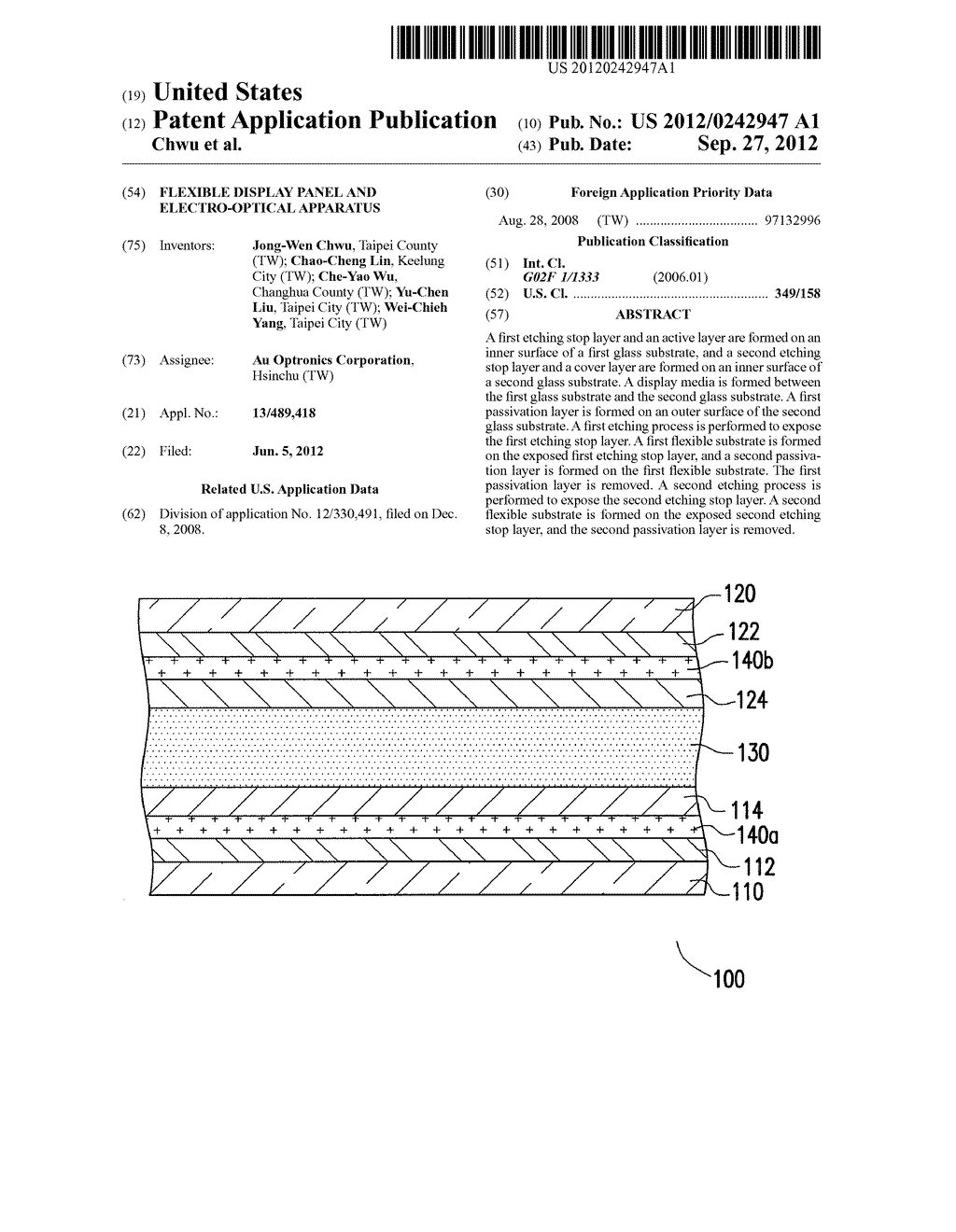 FLEXIBLE DISPLAY PANEL AND ELECTRO-OPTICAL APPARATUS - diagram, schematic, and image 01