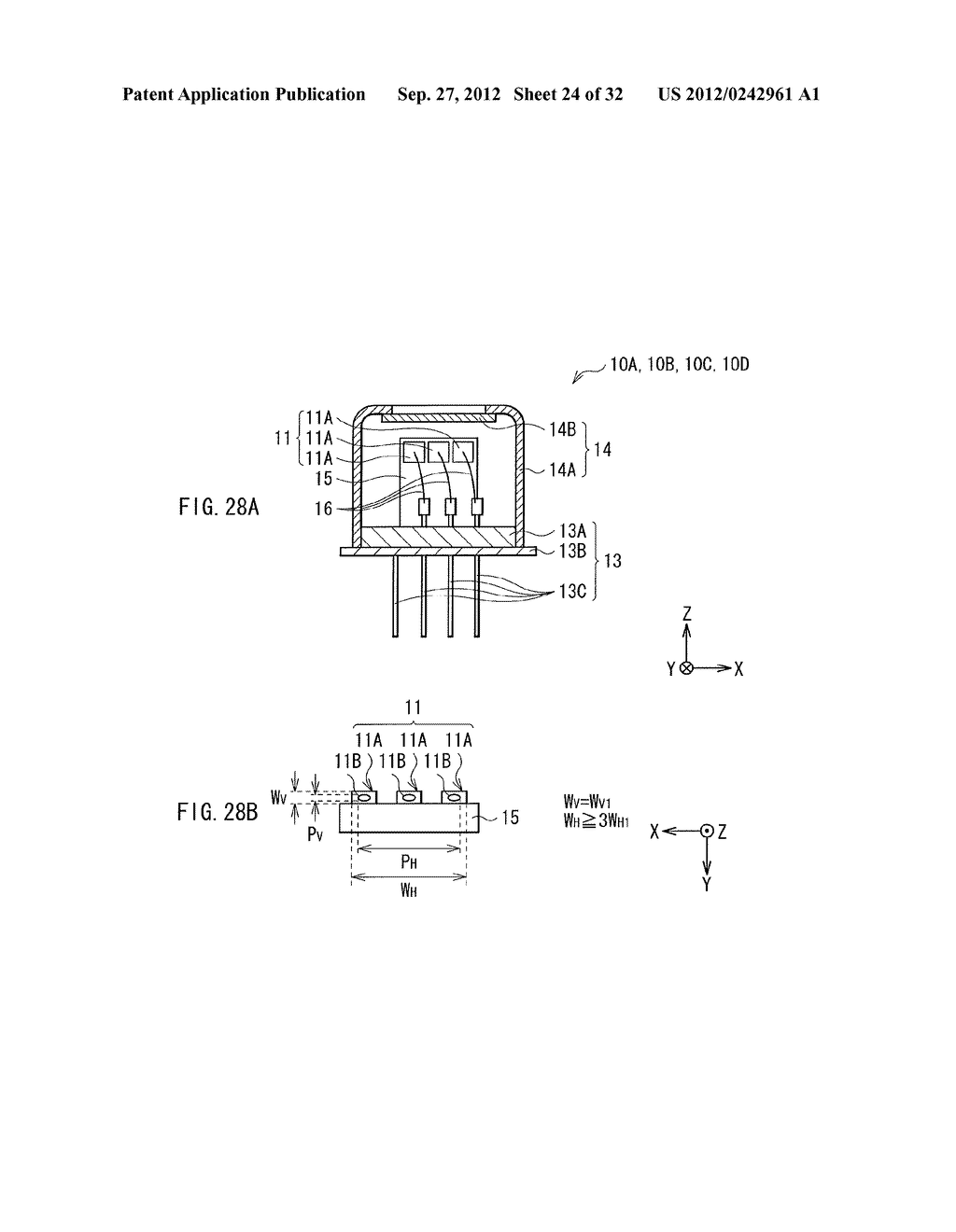 ILLUMINATION DEVICE, PROJECTION DISPLAY, AND DIRECT-VIEW DISPLAY - diagram, schematic, and image 25