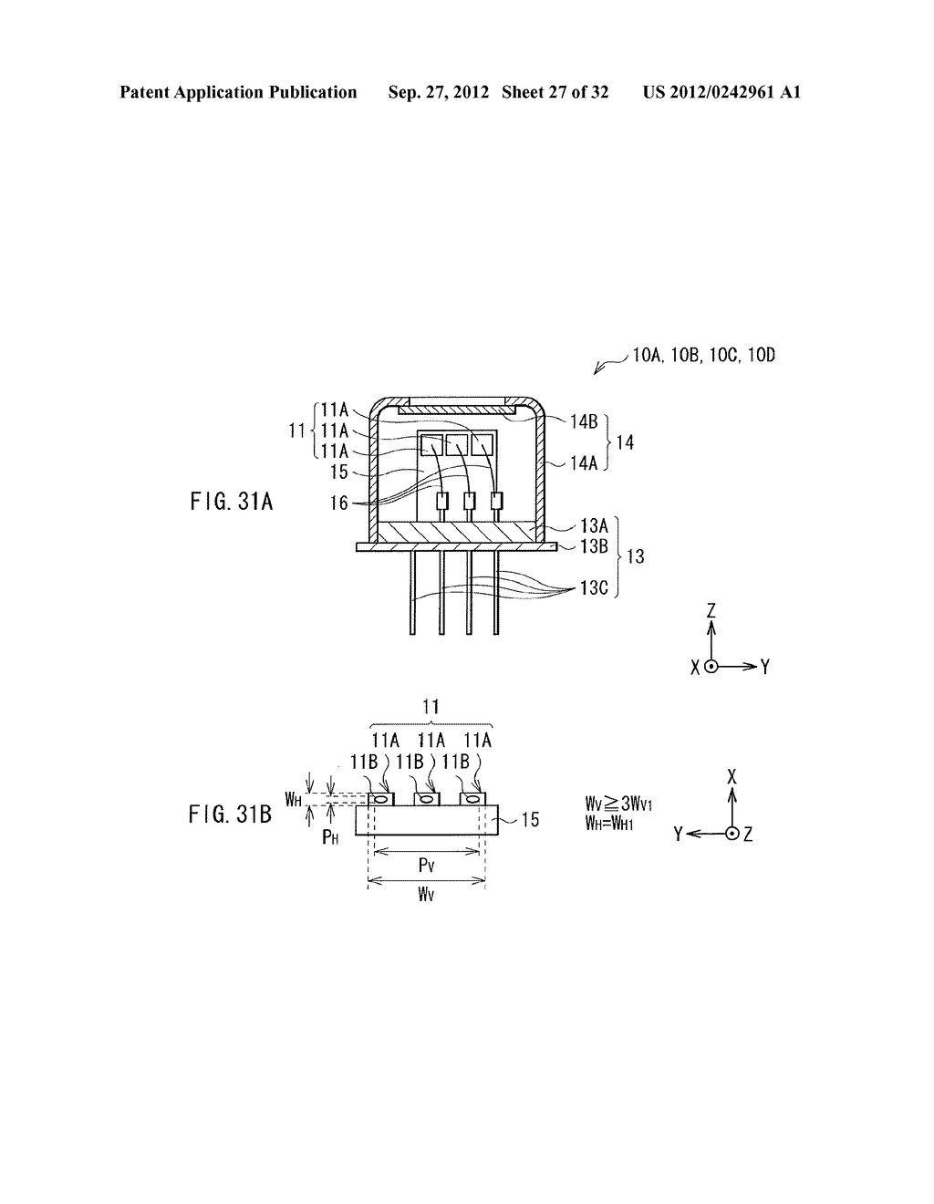 ILLUMINATION DEVICE, PROJECTION DISPLAY, AND DIRECT-VIEW DISPLAY - diagram, schematic, and image 28