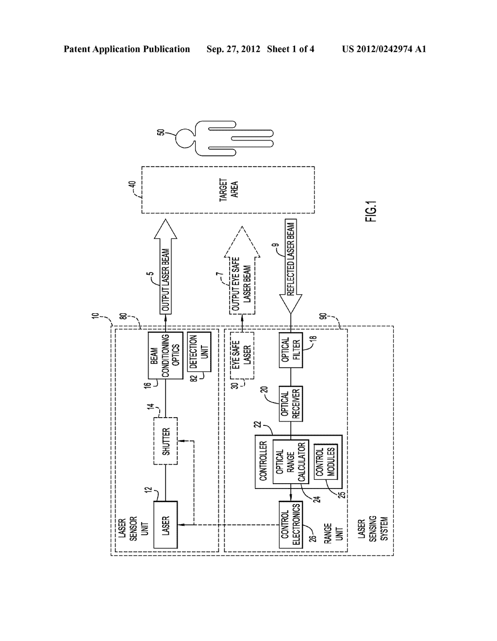 Method and Apparatus for Controlling Laser Transmissions for Enhanced     Safety - diagram, schematic, and image 02