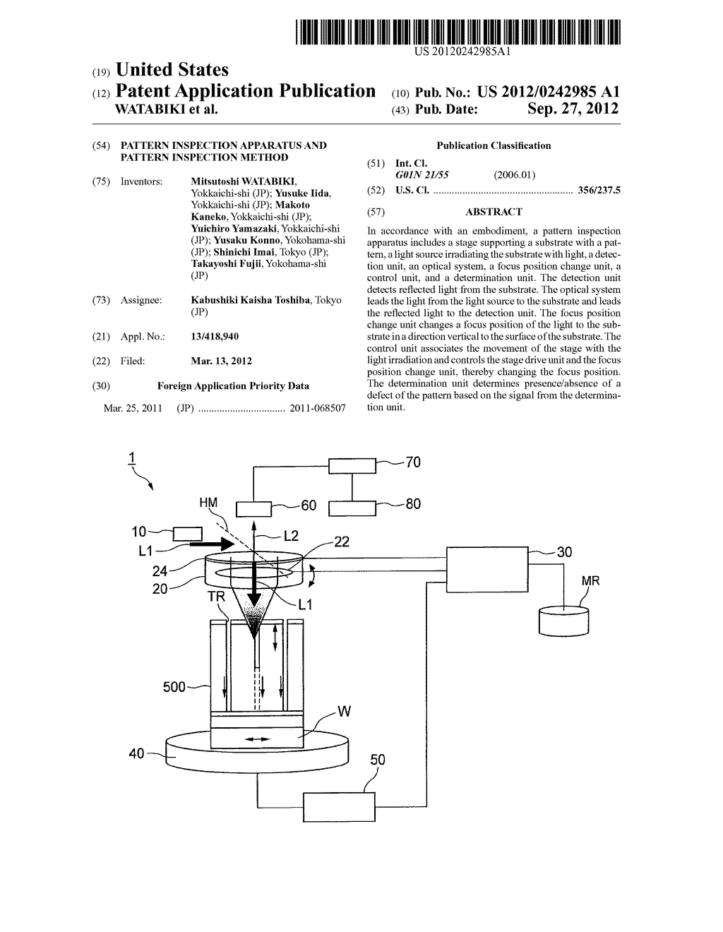 PATTERN INSPECTION APPARATUS AND PATTERN INSPECTION METHOD - diagram, schematic, and image 01