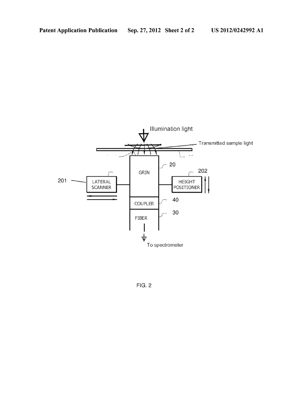 GRADIENT INDEX (GRIN)-BASED ABSORPTION SPECTROSCOPY APPARATUS, METHOD, AND     APPLICATIONS - diagram, schematic, and image 03