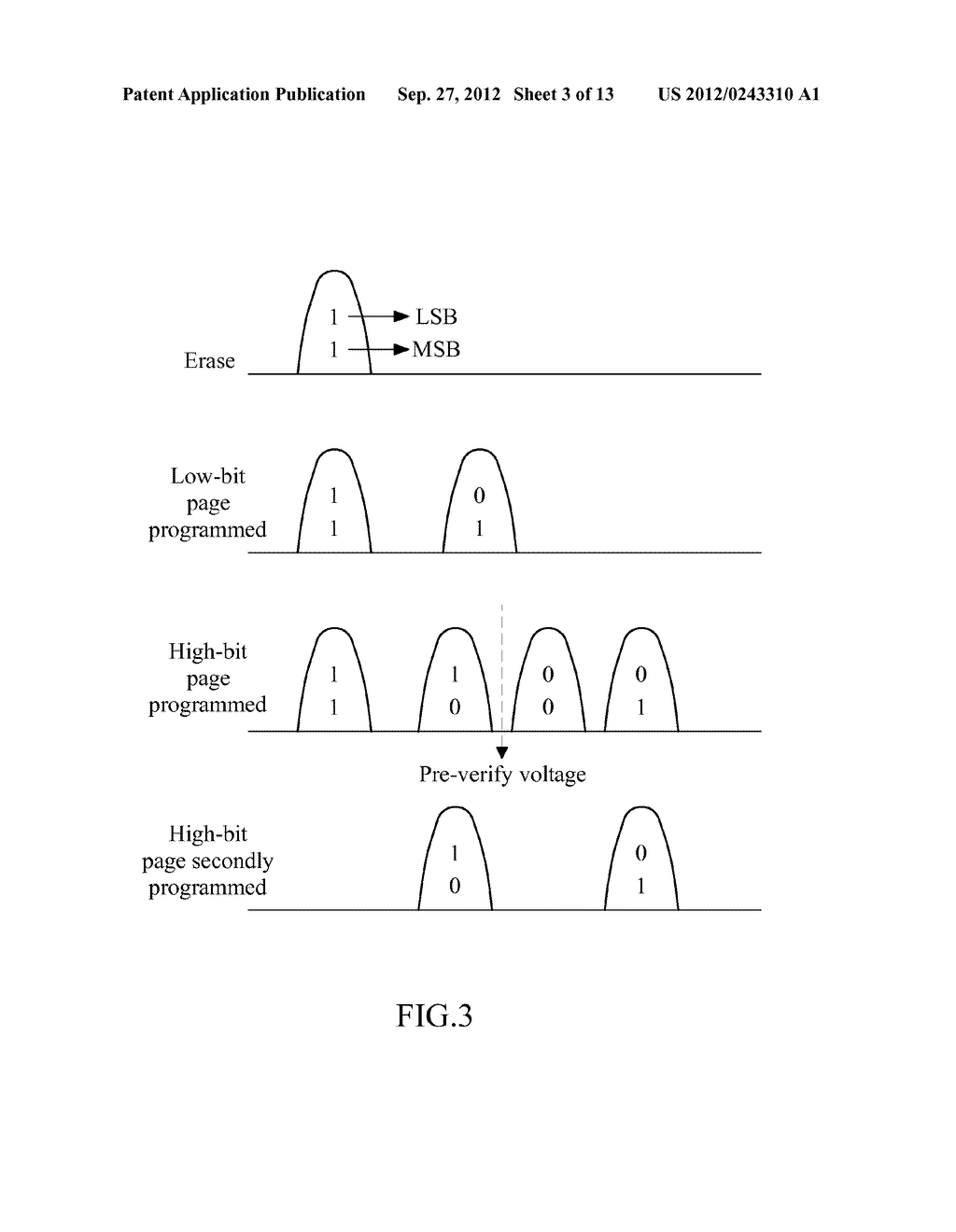 METHOD OF PROGRAMMING A MULTI-BIT PER CELL NON-VOLATILE MEMORY - diagram, schematic, and image 04